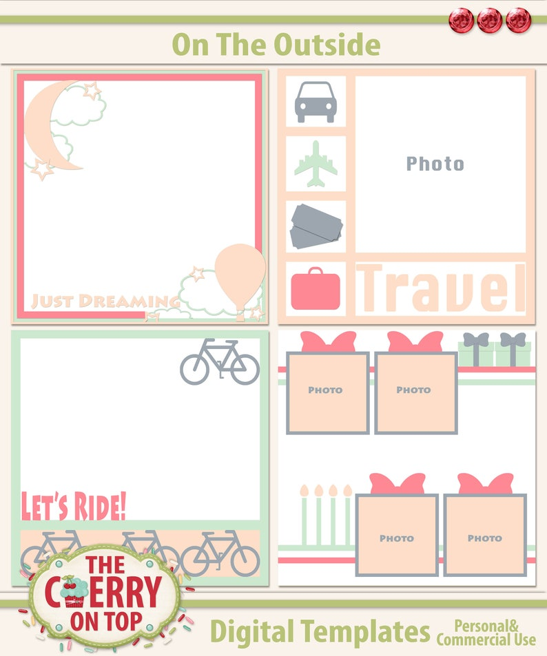 On The Outside Digital Scrapbooking Templates image 0