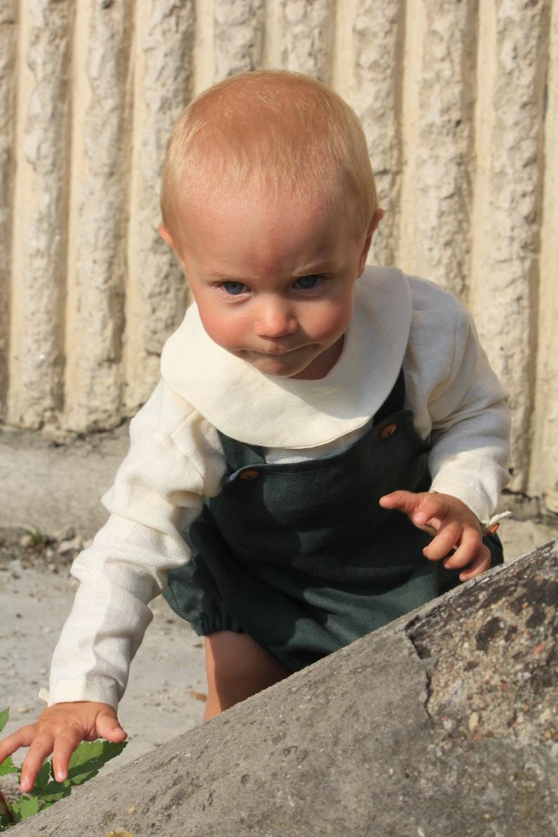 Christening Linen Baby Shirt Linen Baby Clothing White Linen Baby Shirt Button Down Linen Shirt Linen Shirt For Baby Linen Baby Blouse
