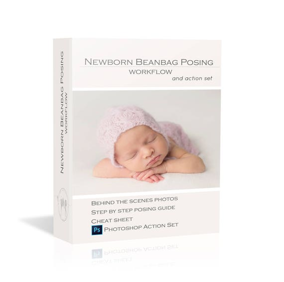 40 off newborn beanbag posing workflow guide bonus cheat