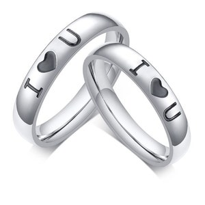 Rings With Engravings Personalized Wedding Rings Faith Rings Couple Ring Men Women Silver Gold Stainless Steel Half Broken Heart Engagement