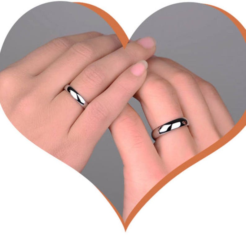 Rings Personalized Couple Wedding Rings Wedding Band Engagement Wedding Engagement Wedding Rings Engraved Simple