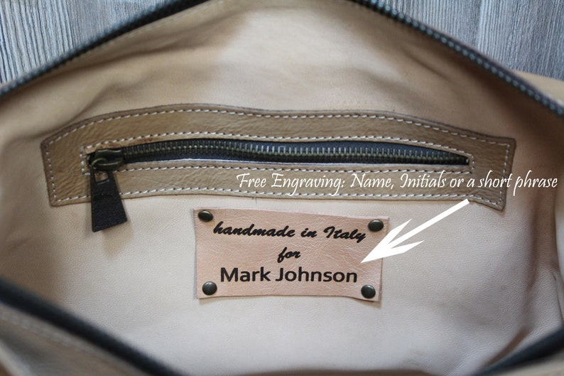 Italian Messenger Bag made with genuine italian leather Tuscany From the very heart of Italy Unique and original gift