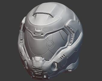 DOOM 2016 helmet 3d print files
