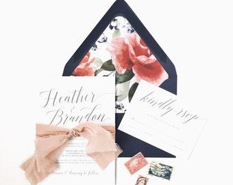 Wedding Invitation - customizable, wedding invitation set, wedding invitation suite, wedding invites, wedding stationery, custom stationery