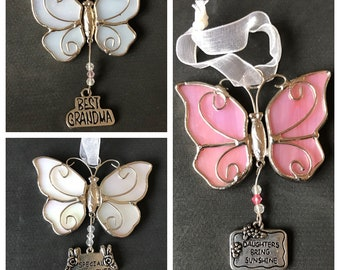 New Iridescent Butterfly Hanging Decor Daughter - Grandmother - Godmother