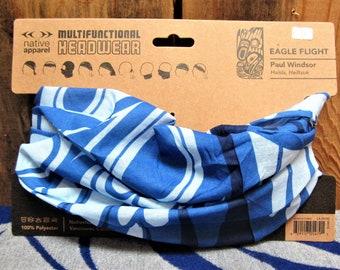 Haisla Heiltsuk First Nation /'Eagle Flight/' Multi Functional Headwear Native Indigenous Art