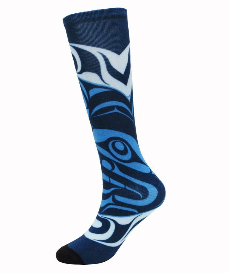 Kwakiutl /'/'Confessions to the Moon/'/' First Nations Socks Size ML Adult