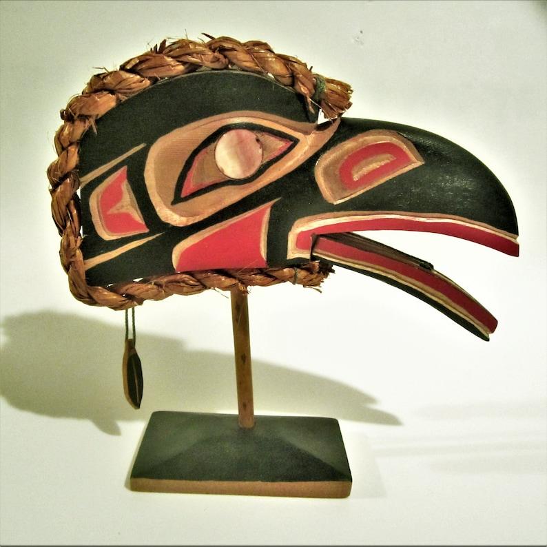4b37a225649 Leon Williams  Raven  Cedar Bark Carving West Coast
