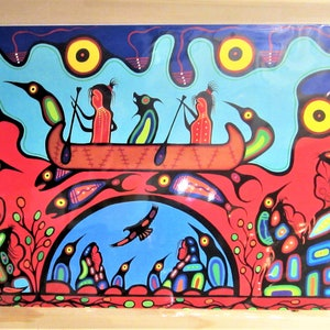 Huron /& Algonquin First Nation /'Prayers for the Missing/' Contemporary Native Indigenous Art Framed Picture