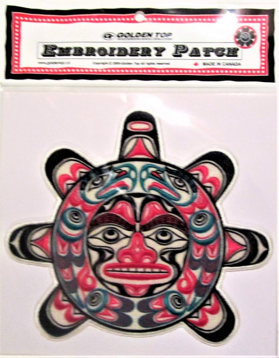 Large First Nations Bear Embroidered Patch Native Westcoast