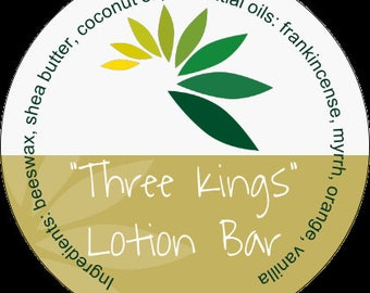 Three Kings Lotion Bar #aromatherapy #tin #frankincense #myrrh #tangerine