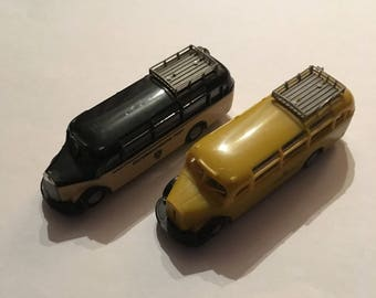 Praline 2 small rare plastic buses