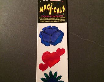 Sandylion vintage very rare Magi-cals flowers and heart stickers