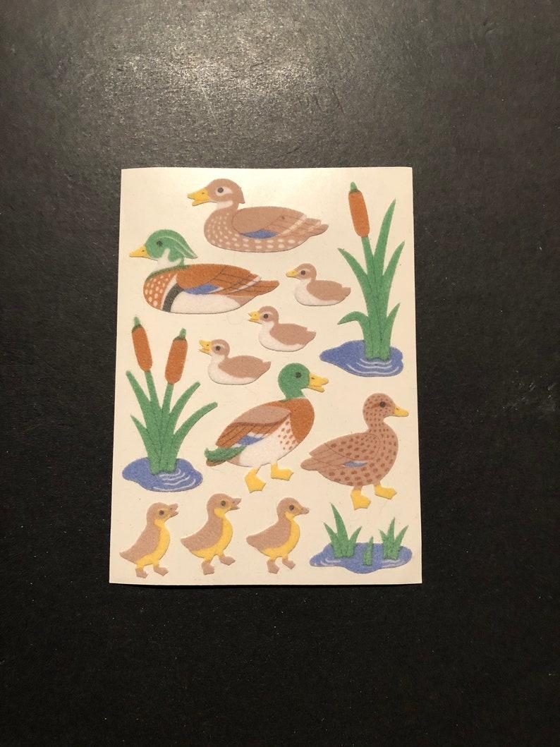 Sandylion vintage very rare fuzzy maxi duck stickers