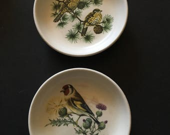 Guild Craft (Poole LTD) 2 small bird plates