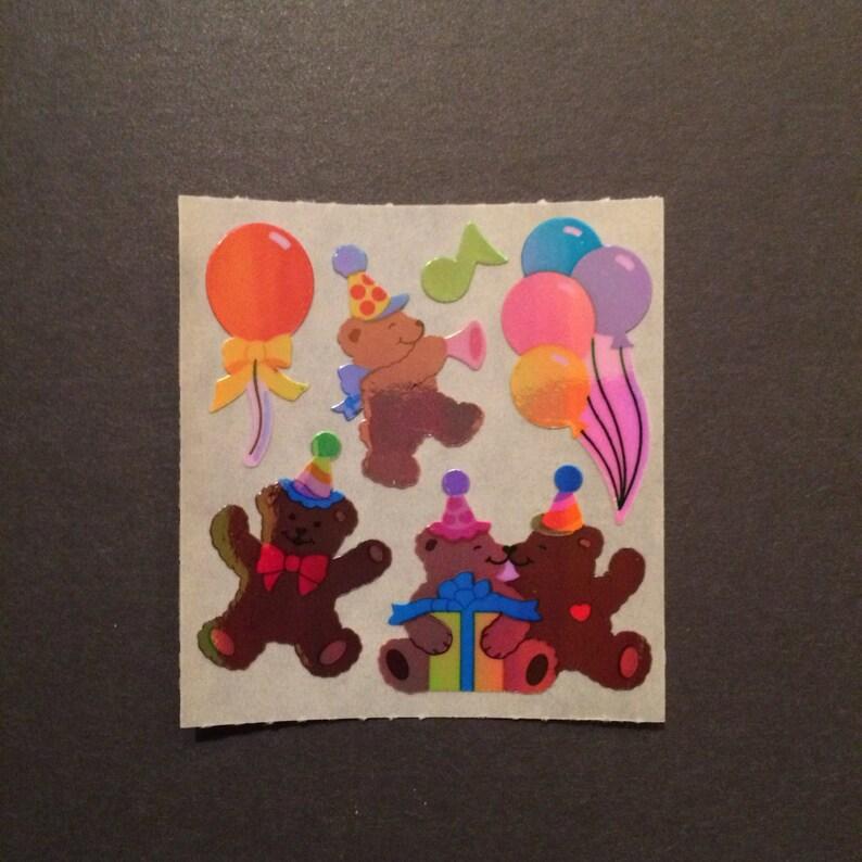 Sandylion vintage rare shiny birthday bear stickers