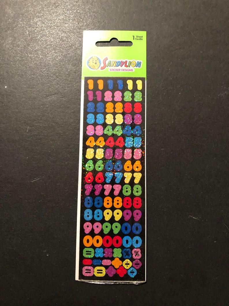 Sandylion vintage rare numbers sticker strip