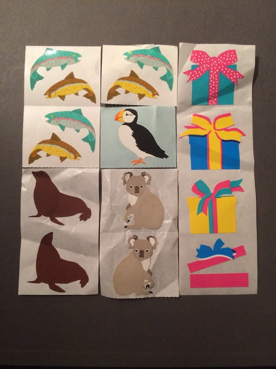 Grossman/'s Stickers 4 Strips Mrs Holiday Penguins Snow Santa Hat Scarf