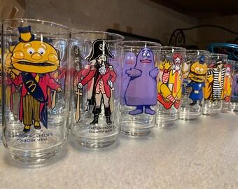Vintage McDonald's Collectors Series & McDonaldland Action Series Glasses