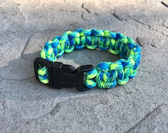 Paracord Bracelet - Blue/Lime - Bug-OutBABY