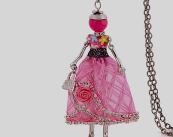 Fashion Doll Pendant necklace,Vintage charms,women,daughters,friends