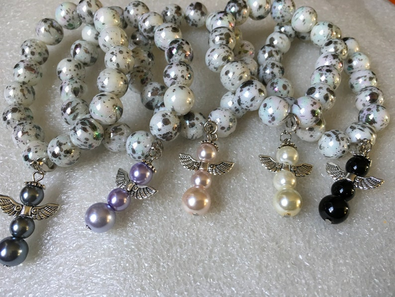 5 Bracelets with Angel Charm,GOOD CAUSE ApoloAngels collection Friends  gifts Group gifts,Family,Party Gifts guardian angels.