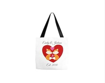 Fox Bag, Fox Accessories, Tote Bag Canvas, Fox Tote, Tote Bag For Women, Fox Tote Bags, Fox Gift, Fox Gift For Her, Grocery Bag, Fox Bags