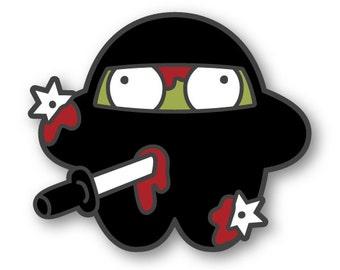 Zombie Ninja Enamel Pin