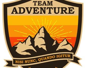 Team Adventure Vinyl Sticker