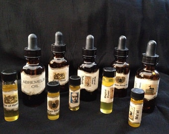 Magical Oils for Power, Justice, Money, Ritual, Psychic Ability