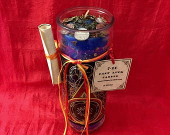 7-11 Fast Luck Spell Candle
