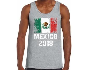 53e8723393d90 Men s Mexico Tank Top. Mexican Flag Tank. Soccer Mexico 2018