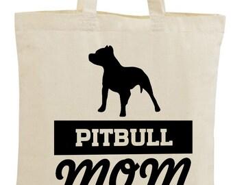 c8a53c133809 Pitbull Mom Canvas Tote Bag Pitbull Mom Bag Dog Mom Shopping Bag Funny  Mother s Day Gifts for Women Pitbull Dog Mom Tote Bag Pitbull Mama