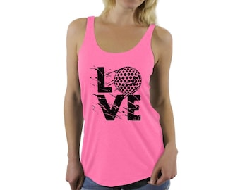 cdfe3d5b82cbe LOVE Golf Racerback Tank Tops Fitness Tank Top Golf Player Gift Golfing  Adventure Golfer Fun Graphic Sports Perfect for Gym and Yoga
