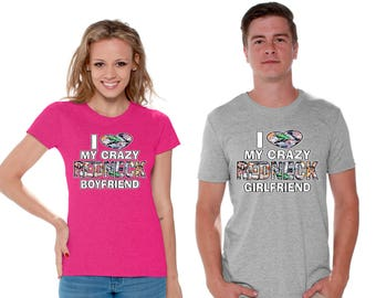 f297d30bbe Boyfriend Girlfriend Matching Couple Shirts I Love My Crazy Redneck  Boyfriend Shirt Love My Crazy Redneck Girlfriend Tshirt Valentines Gifts