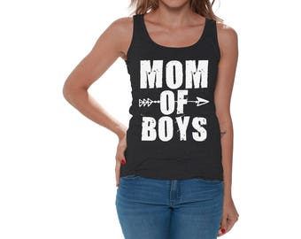 b4063276d Mom of Boys Tank Tops Tank Top Cute Motherhood Mothers Day Gift for Mom  Mothering Hipster Arrow Gifts for Her