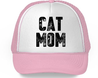 501eebd6e6feb Cat Mom Trucker Hat Mother s Day Gifts for Women Cat Mama Hat Funny Cat Mom  Hat for Women Mom Gifts for Cat Lovers Mom Hat Mom Accessories