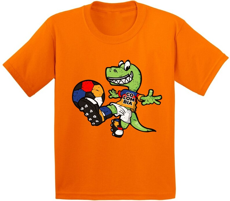 competitive price 4601c 01378 Dinosaur Colombia Shirt. Youth Soccer Shirts. Kids Soccer Gifts
