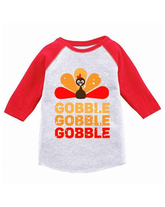 Gobble Toddler Long Sleeve Shirt  Gobble Toddler  Kids Thanksgiving  Boys Thanksging  Thanksgiving  Girls Thanksgiving