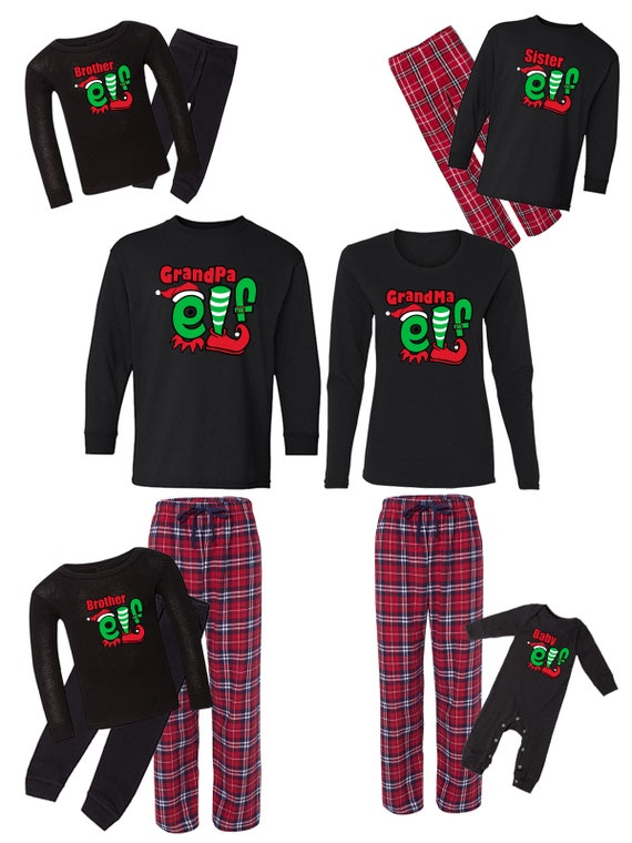 Holiday Xmas for Family Christmas Matching Pajama Sets Lets Get Baked Gingerbread Design PJ