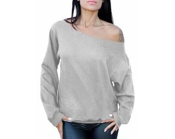 Off Shoulder sweatshirt Off shoulder sweater Slouchy Sweater Slouchy Sweatshirt Oversized Off the shoulder top