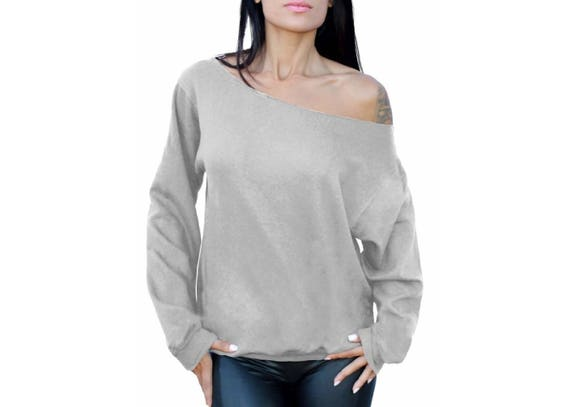 Wild Thing Slouchy Off Shoulder Oversized Sweatshirt
