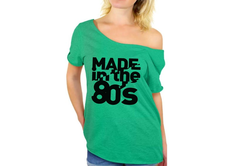 0d690169229 Made In the 80s Shirt Off Shoulder Tops T shirts Off The | Etsy