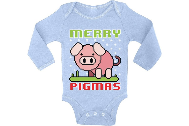 Ugly Christmas Baby Outfit Bodysuit Merry Pigmas Xmas Baby Romper