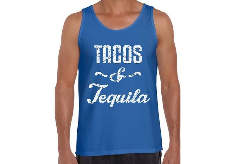 7675427a929f Tacos and Tequila Tank Tops for Men Graphic Tank Tops Taco | Etsy