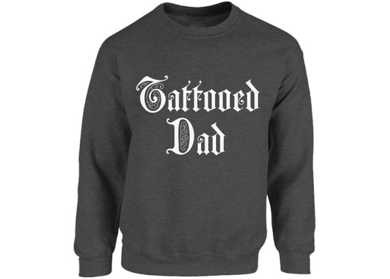 Tattoed Dad Mens Father Dad Tattoo Funny Hoodie Gift Ink Inked