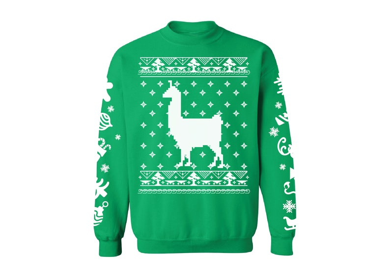 Llama Christmas Sweater.Llama Christmas Sweatshirt Llama Ugly Christmas Sweater Funny Christmas Gifts For Alpaca Lovers