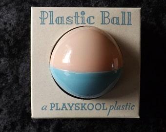 Vintage 1950's Playskool Baby Rattle Ball