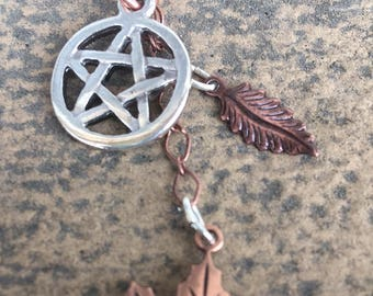 Earth Pentacle Charm Necklaces