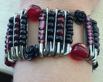 Roses of Hope Safety Pin Bracelet